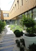 Patio, Entreprise Bouvet, La Membrolle-sur-Longuenée, Lionel Vié architecte